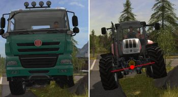 Работа подвески и шин в Farming Simulator 2017