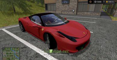 Скриншот мода авто Ferrari 458 Italia