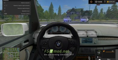BMW X5 для игры Farming Simulator 17