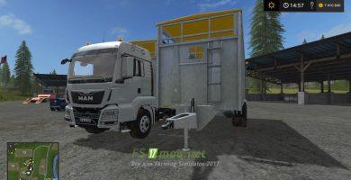 Мод MAN с прицепом для покупки животных в Farming Simulator 2017