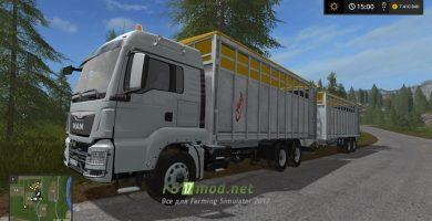 Прицеп для покупки коров, свиней и овец в Farming Simulator 2017