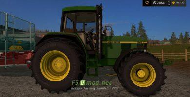 трактор John Deere 6810 для Farming Simulator 2017