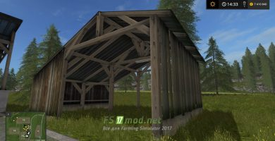 Old Shed With Light Placeable FS 17