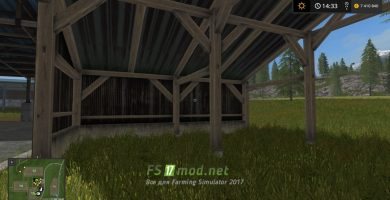 Мод Old Shed With Light Placeable для Farming Simulator 2017