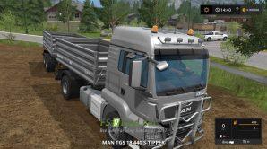 Мод грузовика MAN TGS 18.440 с прицепом