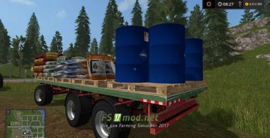 Прицеп с семенами для заправки сеялок в игре Farming Simulator 2017