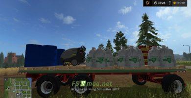 Прицеп с семенами, топливом и удобрениями для Farming Simulator 2017
