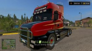 Мод SCANIA T164 3-AXLE для Farming Simulator 2017