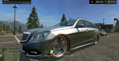 Mercedes E350 для Farming Simulator 2017