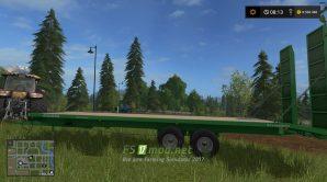 Прицеп для перевозки техники в игре Farming Simulator 2017