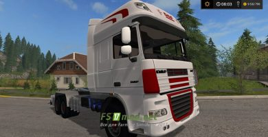Мод тягача DAF XF IT RUNNER для FS 2017