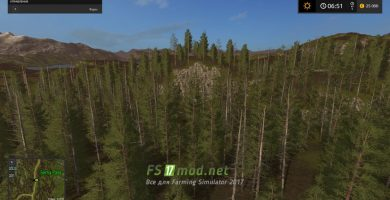 Forest Map для FS 2017