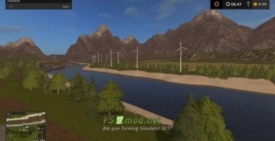 Карта River Valley для Farming Simulator 2017
