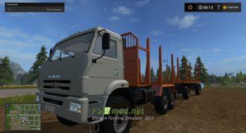 Грузовик КамАЗ для перевозки леса в игре FS 2017