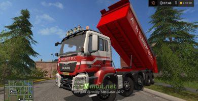 Мод грузовика МАН с большим кузовом