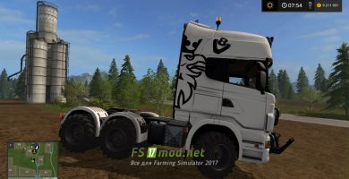 Мод тягача Scania для Фермер Симулятор 2017