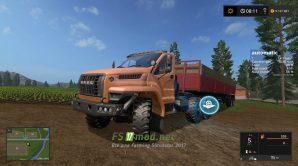 Мод тягача УРАЛ для Farming Simulator 2017