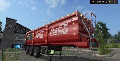 Coca-Cola (новогодний) для Farming Simulator 2017