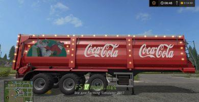 Мод прицепа Coca-Cola для игры Фермер Симулятор 2017
