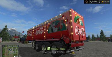 Мод новогоднего прицепа Coca-Cola для FS 2017