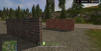 Мод Walls — кирпичные стены для FS 2017