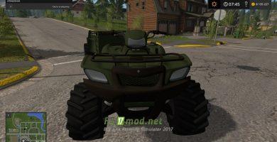FDR LOGGING — ATV + ATV TRAILER дляFarming Simulator 2017