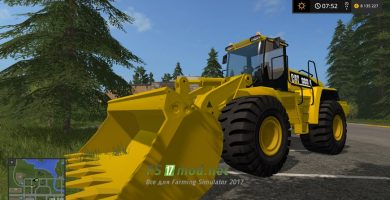 Cat 980H для Farming Simulator 2017