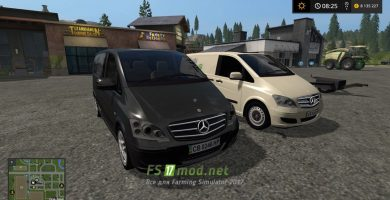 Mercedes-Benz Viano для Farming Simulator 2017