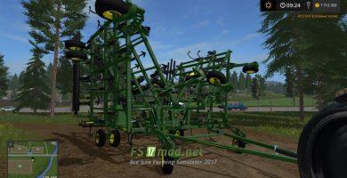 Мод культиватора JOHN DEERE для Farming Simulator 2017