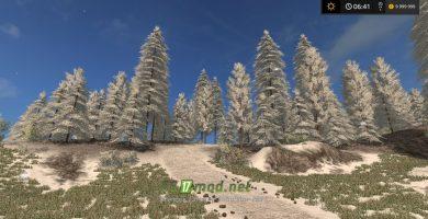 Текстуры снега для игры Farming Simulator 2017