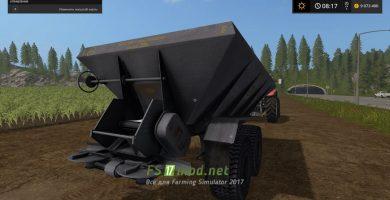 Модификация прицепа с функцией внесения удобрений в игре FS 2017