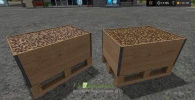 Мод на покупку поддонов с картофелем для Farming Simulator 2017