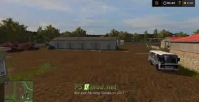 Русская карта с грязью для Farming Simulator 2017