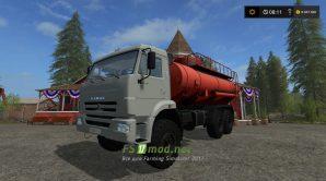 КамАЗ с цистерной для Farming Simulator 2017