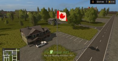 Мод карты Canadian National для Farming Simulator 2017