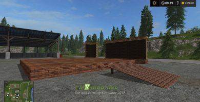 Деревянная платформа для FS 2017