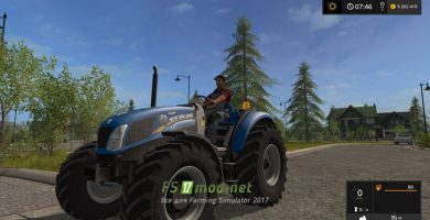 Мод трактора New Holland T4 75 Garden Edition