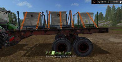 Мод прицепа для тюков в игре Farming Simulator 2017