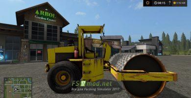 Дорожный каток для игры Farming Simulator 2017