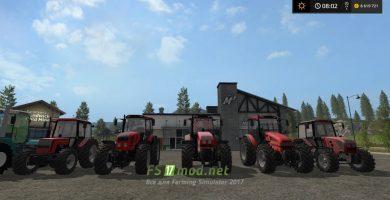 Пак тракторов Беларус для Farming Simulator 2017