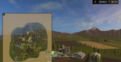 Схема карты Вудшир