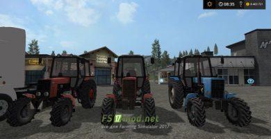Пак тракторов МТЗ для FS 17