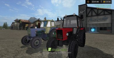 Мод тракторов ЮМЗ и МТЗ для FS 17