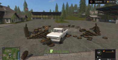 Объект стопки колес для FS 17
