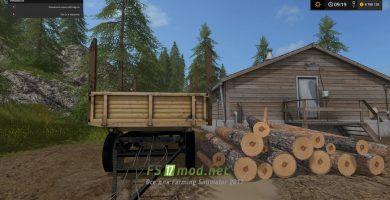 Прицеп для бревен в Farming Simulator 2017