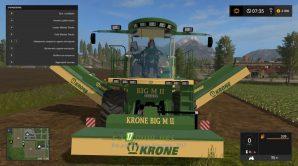 Косилка Krone BigM II вид с переди