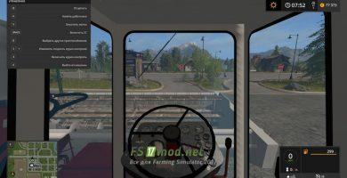 Комбайн КСК-100 вид с кабины