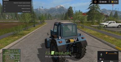 Трактор МТЗ-82 для игры Фермер Симулятор 2017