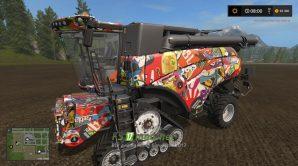 Мод на NEW HOLLAND CR 1090 STICKERBOMB для игры Farming Simulator 2017