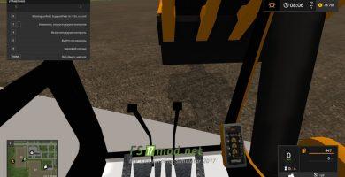 Мод RENAULT TRUCK EXCAVATOR TFSG вид с кабины экскаватора